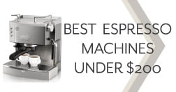 best espresso machine under 500 the ultimate guide espresso perfecto. Black Bedroom Furniture Sets. Home Design Ideas