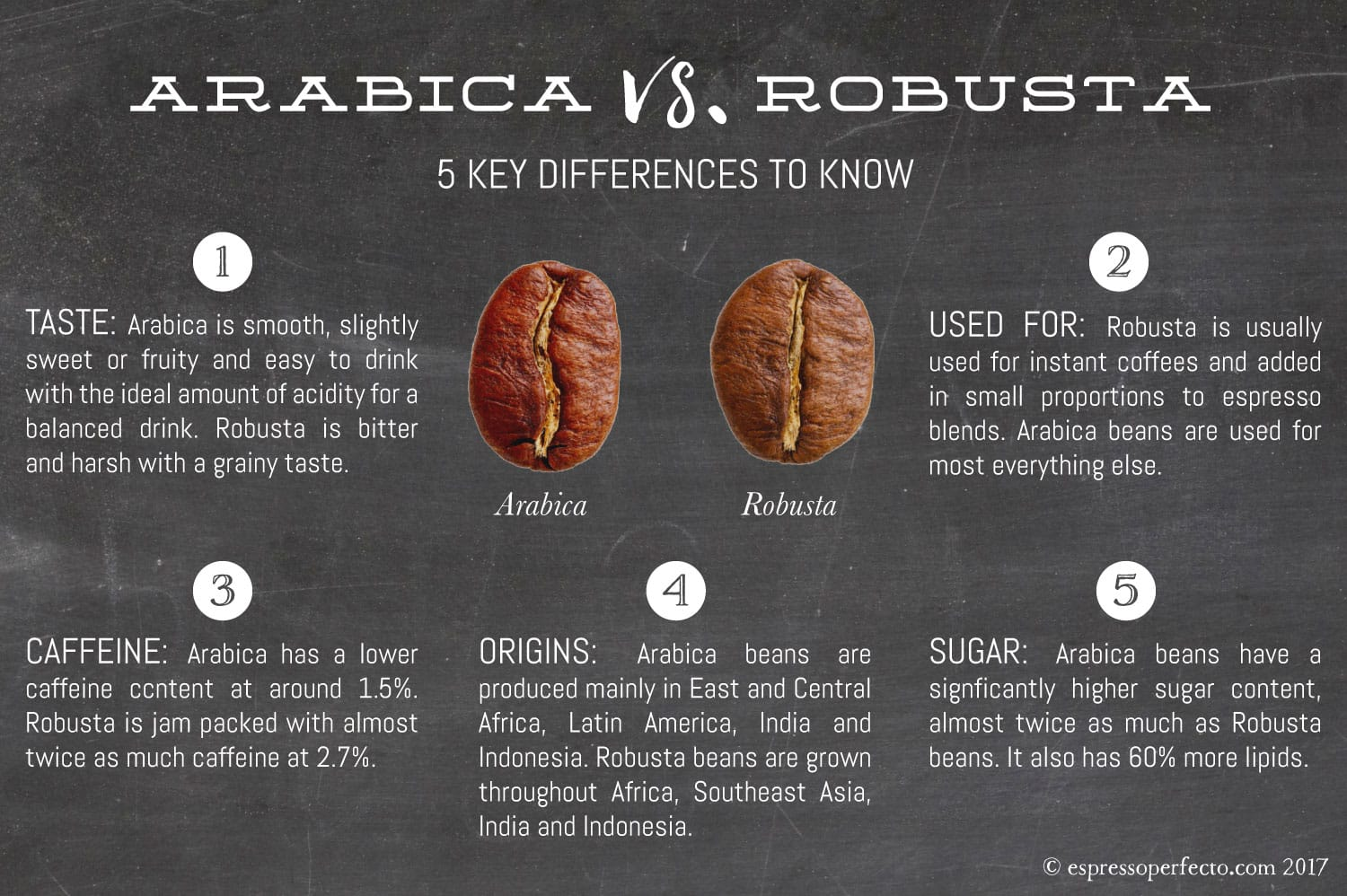 Arabica vs. Robusta Coffee Beans | 5 Key Differences ...