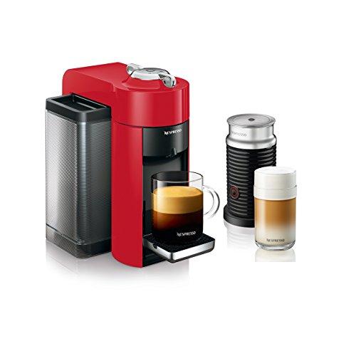 1 Nespresso Vertuoline Evoluo Deluxe Coffee Espresso Maker With Aeroccino Plus Milk Frother